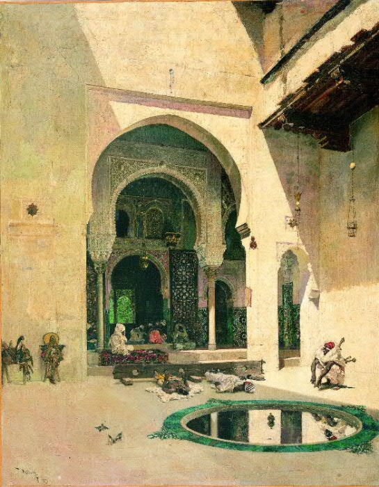 The Court of the Alhambra :: Mariano Fortuny - scenes of Oriental life ( Orientalism) in art and painting фото