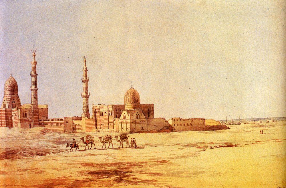 Tombs Of The Khalifs, Cairo :: Richard Dadd - Oriental architecture фото