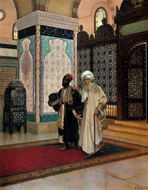 After Prayer :: Rudolf Ernst - scenes of Oriental life ( Orientalism) in art and painting фото