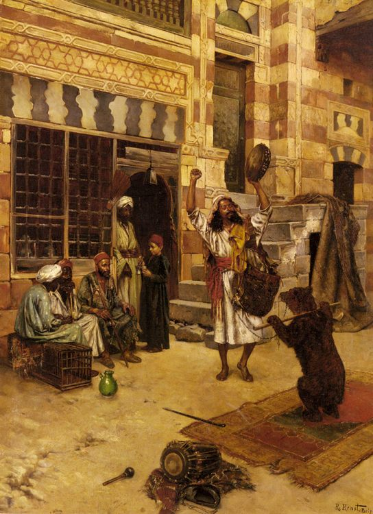 An Afternoon Show :: Rudolf Ernst - scenes of Oriental life ( Orientalism) in art and painting ôîòî