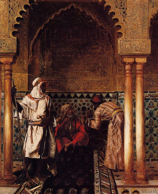 An Arab Sage :: Rudolf Ernst - scenes of Oriental life ( Orientalism) in art and painting фото