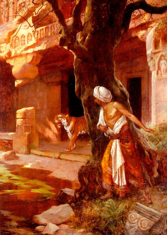 Awaiting The Tiger :: Rudolf Ernst - scenes of Oriental life ( Orientalism) in art and painting фото