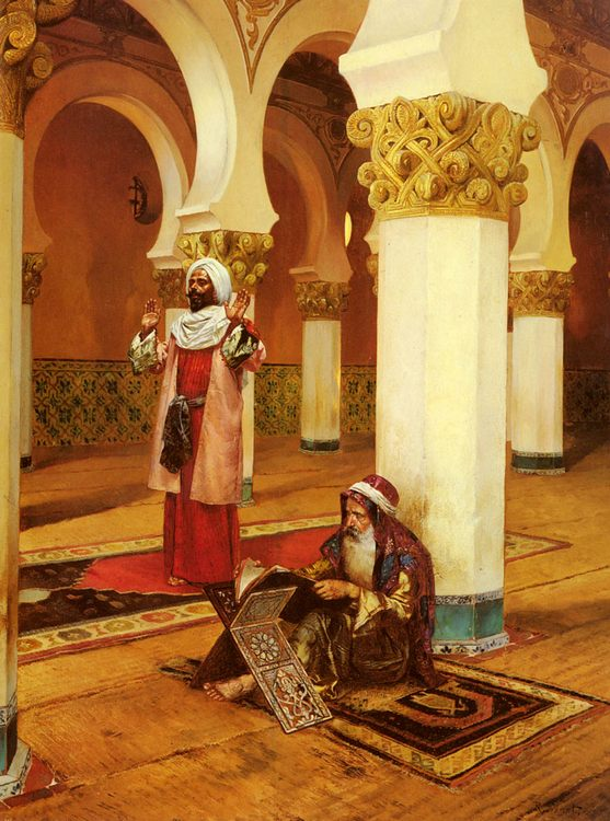 Evening Prayer :: Rudolf Ernst - scenes of Oriental life ( Orientalism) in art and painting фото