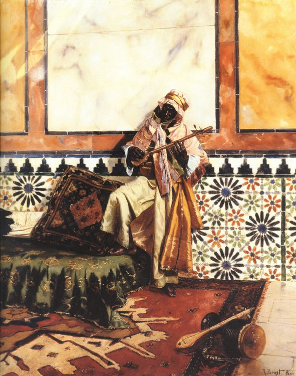 Gnaoua in a North African Interior :: Rudolf Ernst - scenes of Oriental life (Orientalism) in art and painting ôîòî