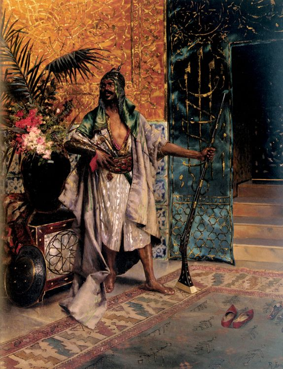 Harem Guard :: Rudolf Ernst - scenes of Oriental life (Orientalism) in art and painting ôîòî