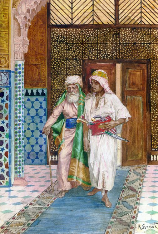 Returning Home :: Rudolf Ernst - scenes of Oriental life ( Orientalism) in art and painting фото