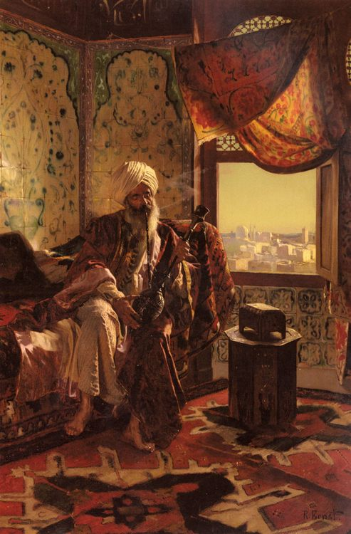 Smoking The Hookah :: Rudolf Ernst - scenes of Oriental life ( Orientalism) in art and painting фото