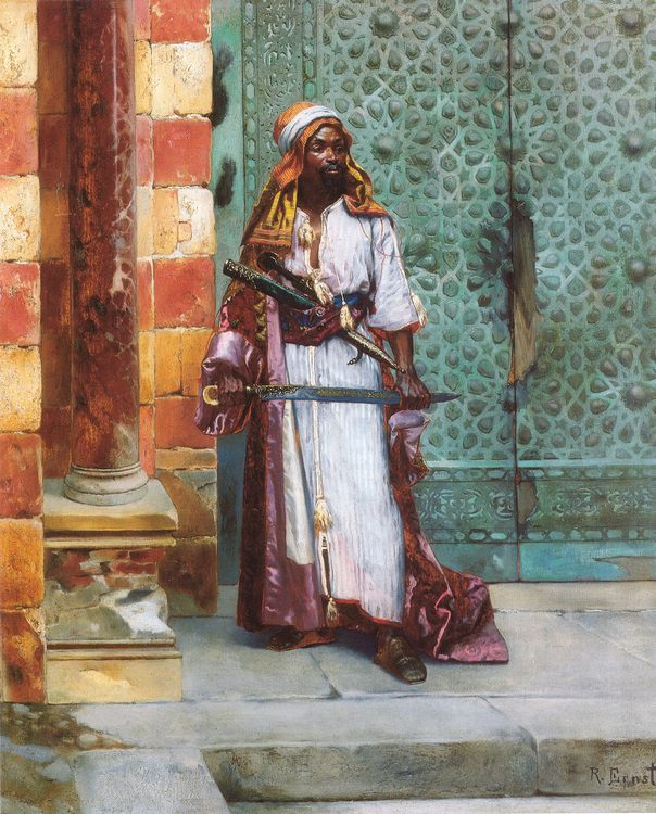 Standing Guard :: Rudolf Ernst - scenes of Oriental life ( Orientalism) in art and painting фото