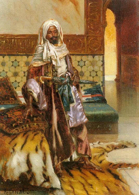 The Arab Prince :: Rudolf Ernst  - scenes of Oriental life ( Orientalism) in art and painting фото