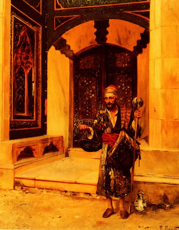The Beggar :: Rudolf Ernst - scenes of Oriental life ( Orientalism) in art and painting фото