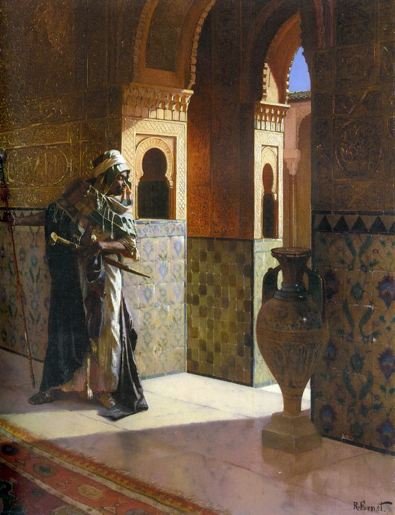 The Moorish Guard :: Rudolf Ernst - scenes of Oriental life ( Orientalism) in art and painting фото