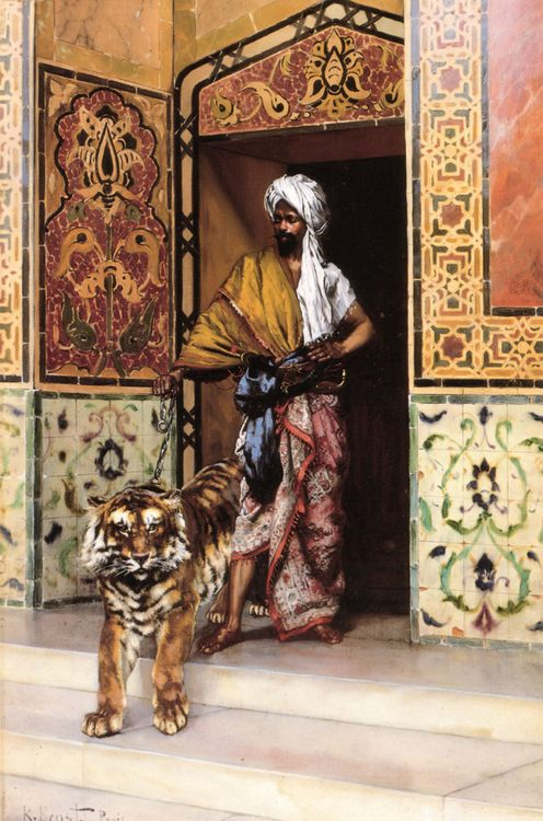The Pasha's Favourite Tiger :: Rudolf Ernst - scenes of Oriental life ( Orientalism) in art and painting фото