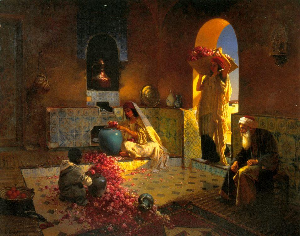 The Perfume Maker :: Rudolf Ernst - scenes of Oriental life (Orientalism) in art and painting ôîòî