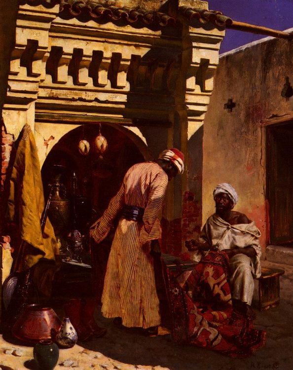 The Rug Merchant :: Rudolf Ernst - scenes of Oriental life ( Orientalism) in art and painting фото