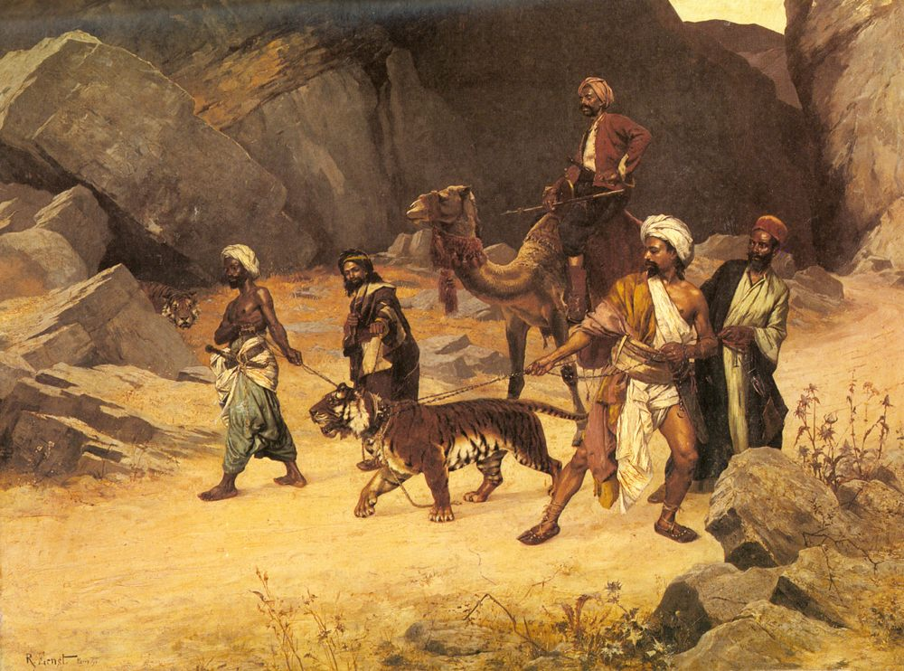 The Tiger Hunt :: Rudolf Ernst - scenes of Oriental life ( Orientalism) in art and painting фото