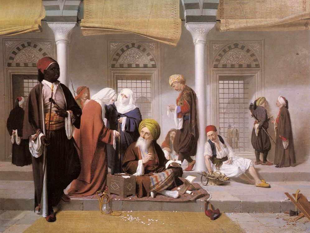 The Public Scribe :: Walter Gould - scenes of Oriental life (Orientalism) in art and painting ôîòî