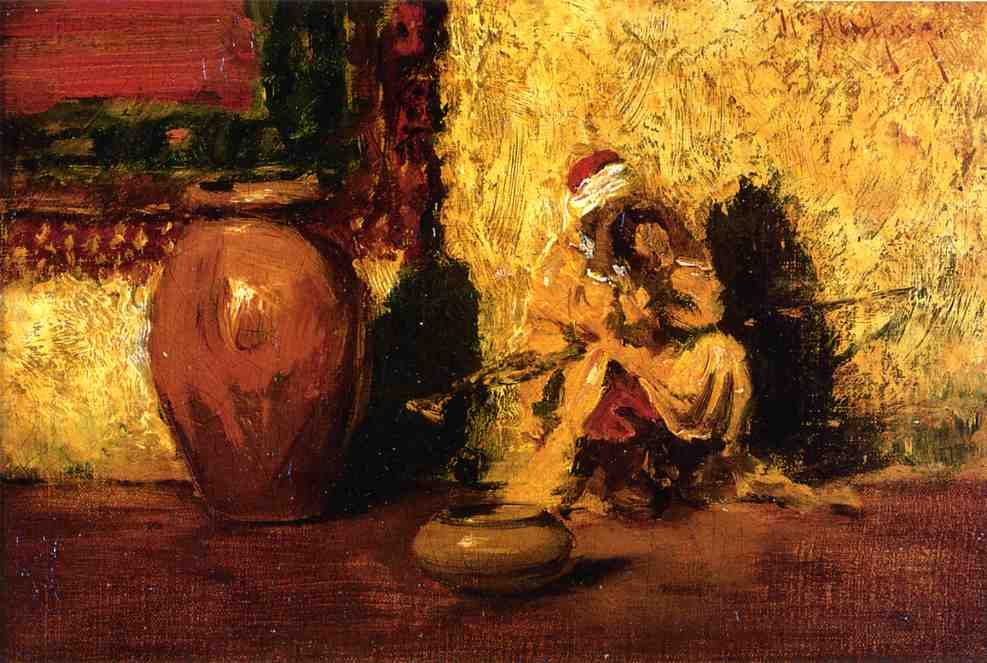 Seated Figure :: William Merritt Chase - scenes of Oriental life ( Orientalism) in art and painting фото
