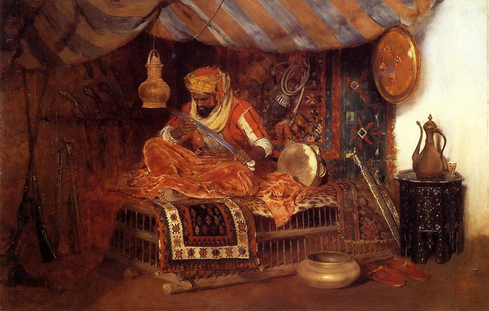The Moorish Warrior :: William Merritt Chase - scenes of Oriental life ( Orientalism) in art and painting фото