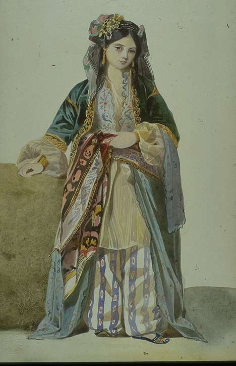 Turkish Woman ('Annetta'), Smyrna  :: Charles Gleyre  - Arab women ( Harem Life scenes ) in art  and painting фото