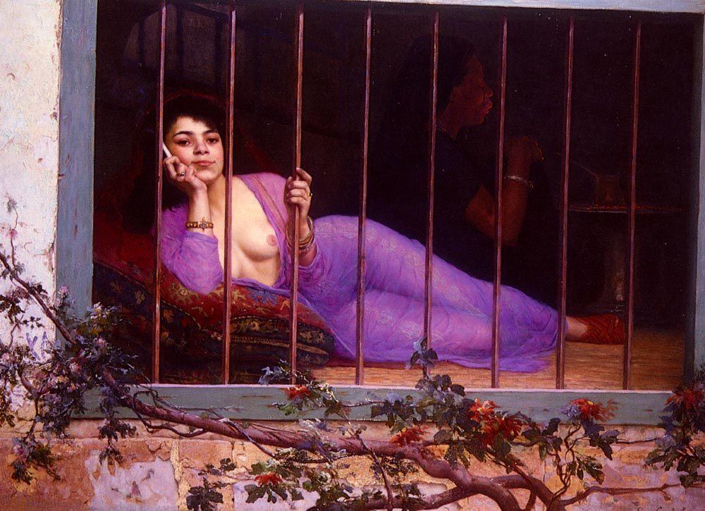 The Odalisque :: Edmond Comte de Grimberghe - Arab women (Harem Life scenes) in art  and painting ôîòî