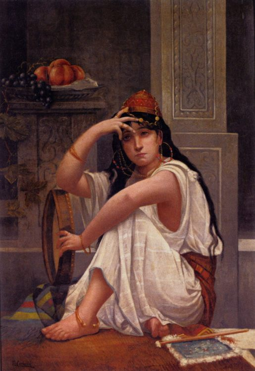Harem Girl :: Ettore Cercone - Arab women ( Harem Life scenes ) in art  and painting фото