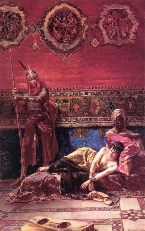 The Pasha's Concubine :: Ferencz-Franz Eisenhut - Arab women (Harem Life scenes) in art  and painting ôîòî