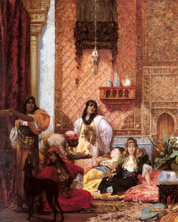 The Sultan's Favorites :: Georges Jules Victor Clairin - Arab women ( Harem Life scenes ) in art  and painting фото