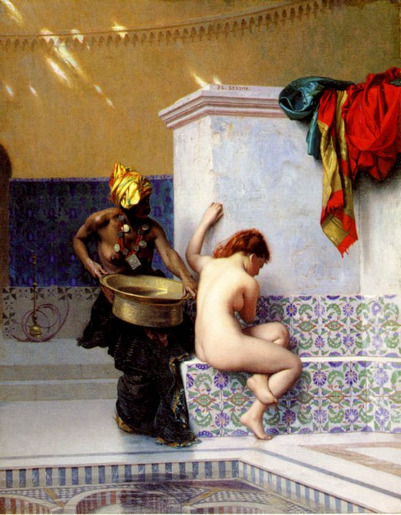Turkish Bath or Moorish Bath (Two Women) :: Jean-Leon Gerome - Arab women ( Harem Life scenes ) in art  and painting фото