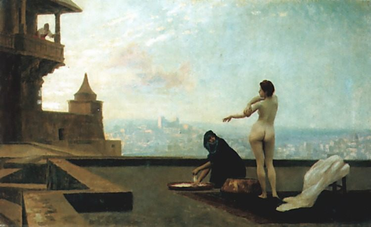 Bathsheba :: Jean-Leon Gerome - Arab women ( Harem Life scenes ) in art  and painting фото