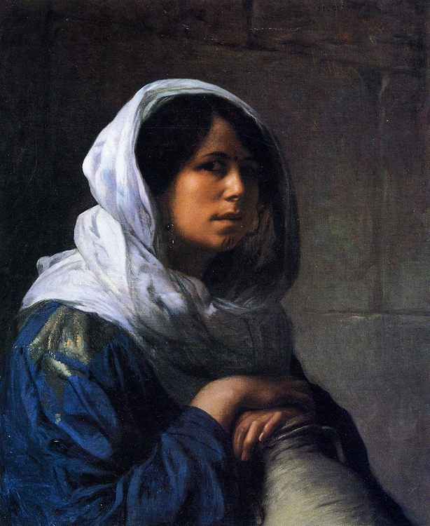 Egyptian Water Carrier :: Jean-Leon Gerome - Arab women ( Harem Life scenes ) in art  and painting фото
