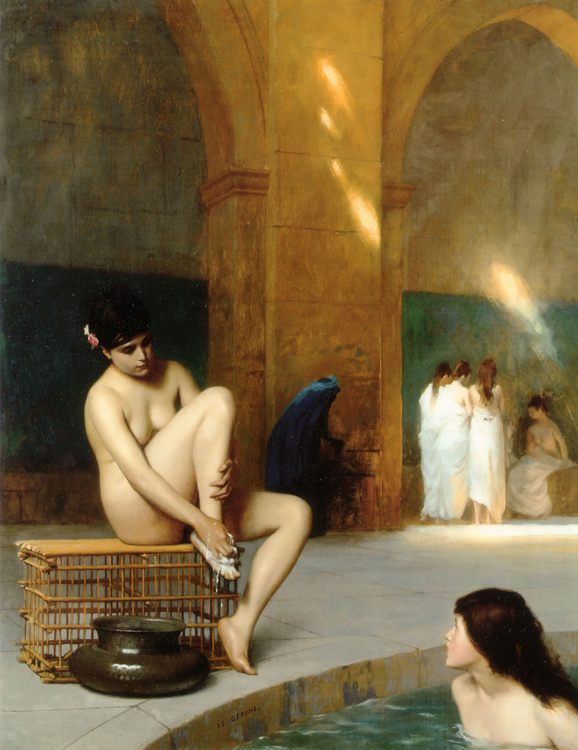 Nude Woman :: Jean-Leon Gerome - Arab women ( Harem Life scenes ) in art  and painting фото
