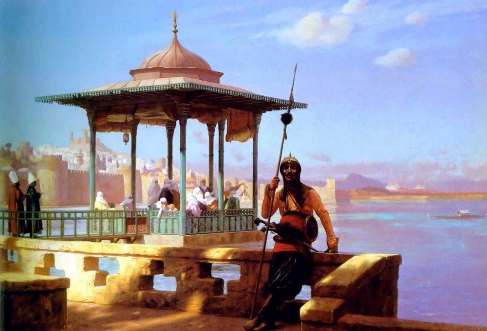 Harem in the Kiosk :: Jean-Leon Gerome - Arab women (Harem Life scenes) in art  and painting ôîòî