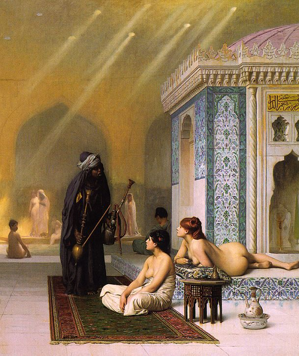Harem Pool :: Jean-Leon Gerome - Arab women ( Harem Life scenes ) in art  and painting фото