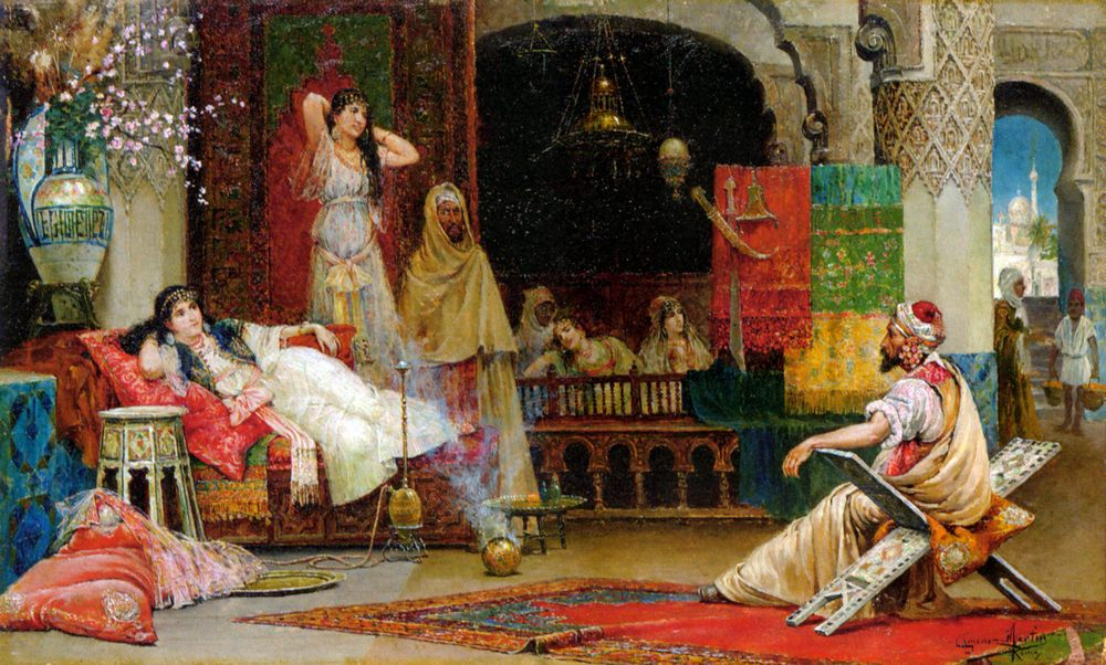 In the Harem :: Juan Gimenez-Martin - Arab women ( Harem Life scenes ) in art  and painting фото