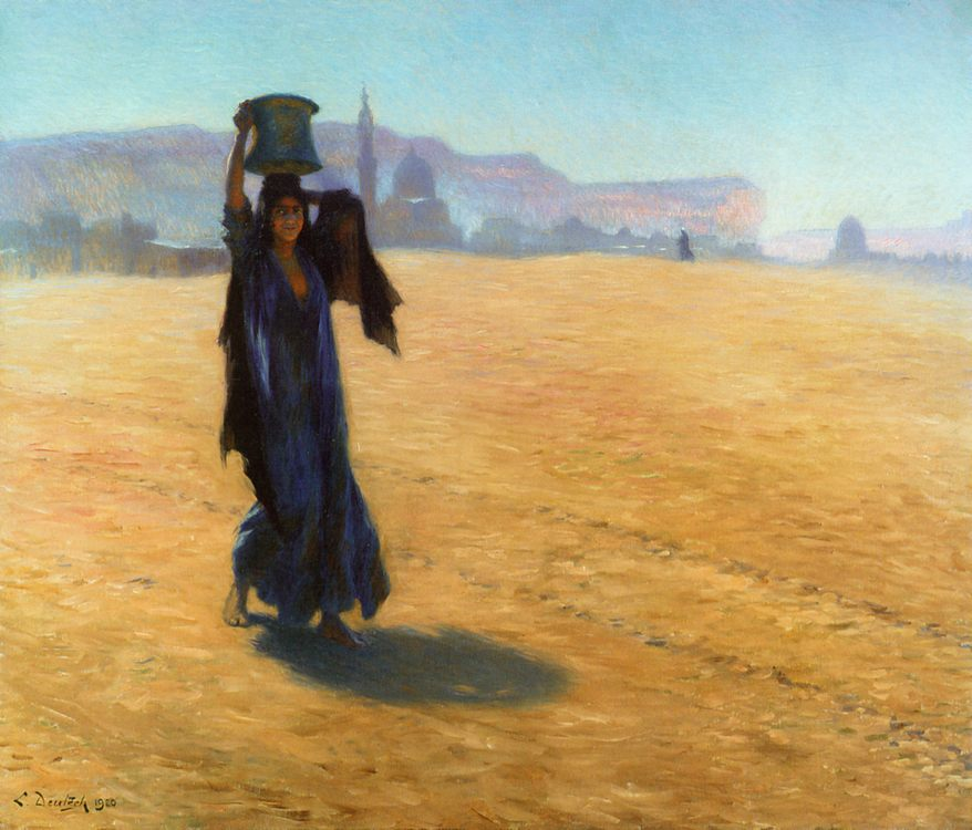 The Water Carrier :: Ludwig Deutsch - Arab women ( Harem Life scenes ) in art  and painting фото