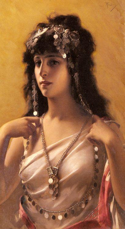 An Oriental Beauty :: Luis Ricardo Falero - Arab women ( Harem Life scenes ) in art  and painting фото