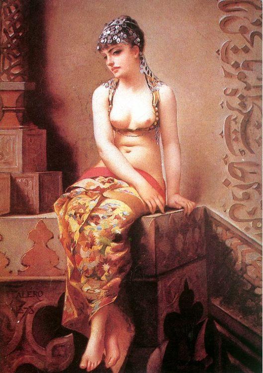Enchantress :: Luis Ricardo Falero - Arab women ( Harem Life scenes ) in art  and painting фото