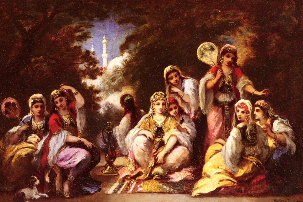 Women Of The Seraglio :: Narcisse-Virgile Dнaz de la Peсa - Arab women ( Harem Life scenes ) in art  and painting фото