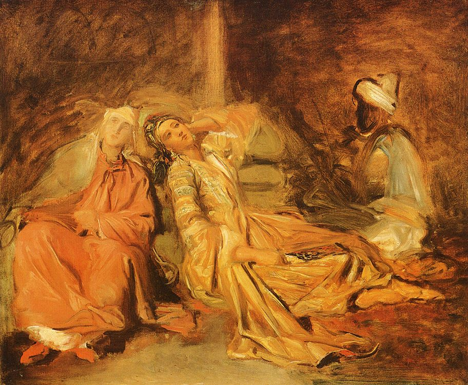 Harem :: Thiodore Chassiriau - Arab women ( Harem Life scenes ) in art  and painting фото