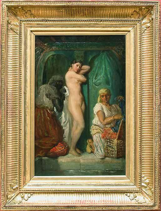 A Bath in the Harem :: Thiodore Chassiriau - Arab women ( Harem Life scenes ) in art  and painting ôîòî