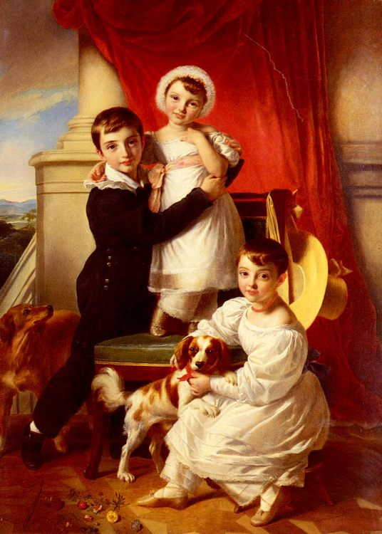 The Stanley Children :: Sir John Watson Gordon  - Children's portrait in art and painting фото