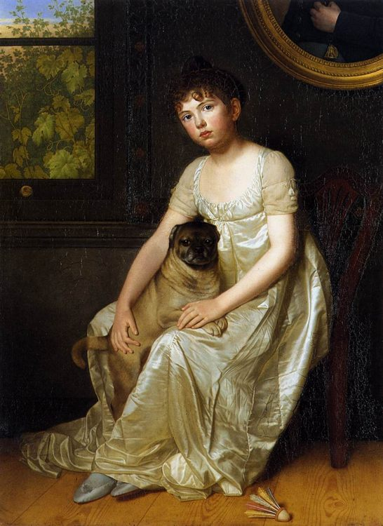Portrait of Sylvie de la Rue :: Franzois van der Donckt - Portraits of young girls in art and painting ôîòî
