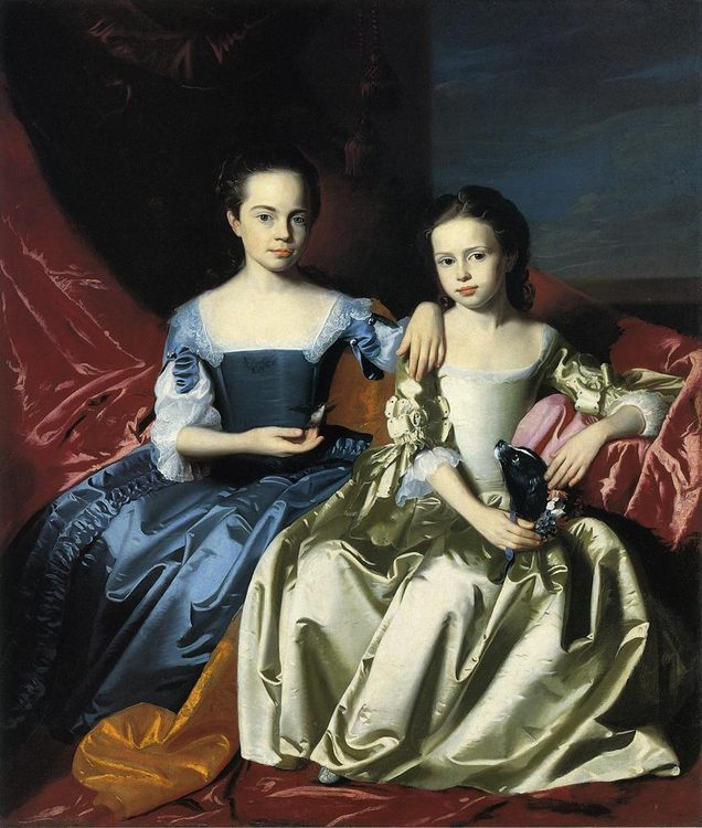 Mary and Elizabeth Royall :: John Singleton Copley - Children's portrait in art and painting фото