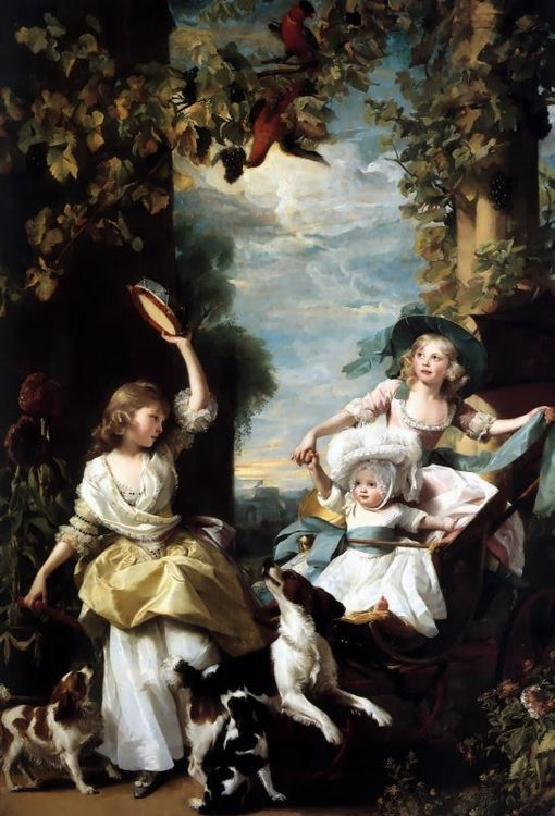 The Three Youngest Daughters of George III :: John Singleton Copley - Children's portrait in art and painting фото