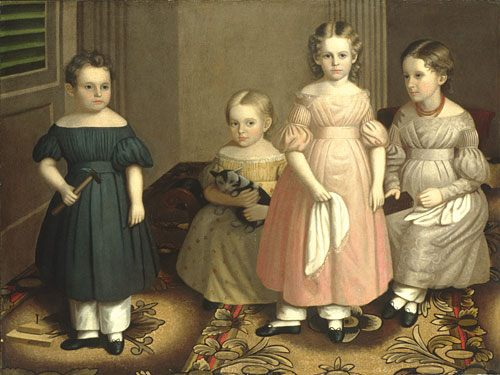 The Alling Children :: Oliver Tarbell Eddy - Children's portrait in art and painting ôîòî