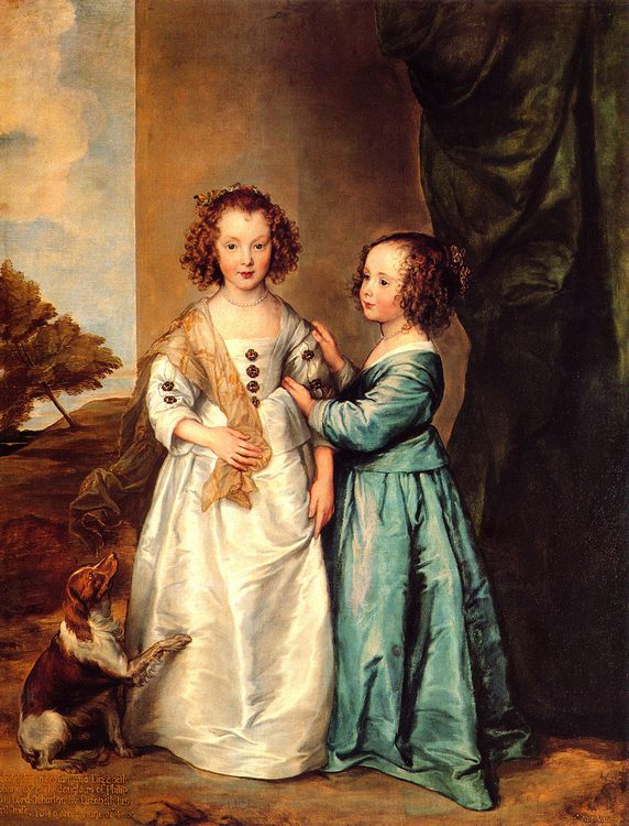 Philadelphia and Elizabeth Wharton :: Sir Antony van Dyck - Children's portrait in art and painting фото