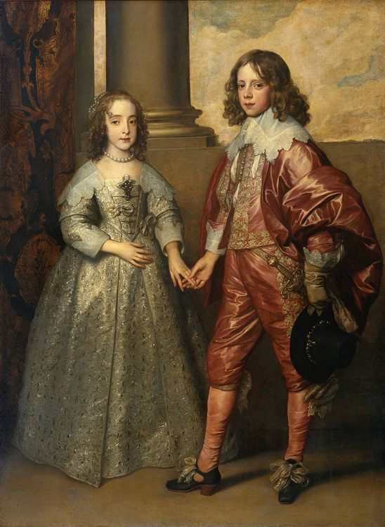 William II, Prince of Orange and Princess Henrietta Mary Stuart, daughter of Charles I of England  :: Sir Antony van Dyck  - Children's portrait in art and painting ôîòî