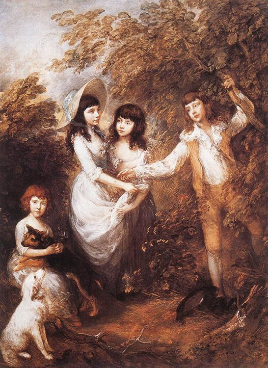 The Marsham Children :: Thomas Gainsborough - Children's portrait in art and painting фото
