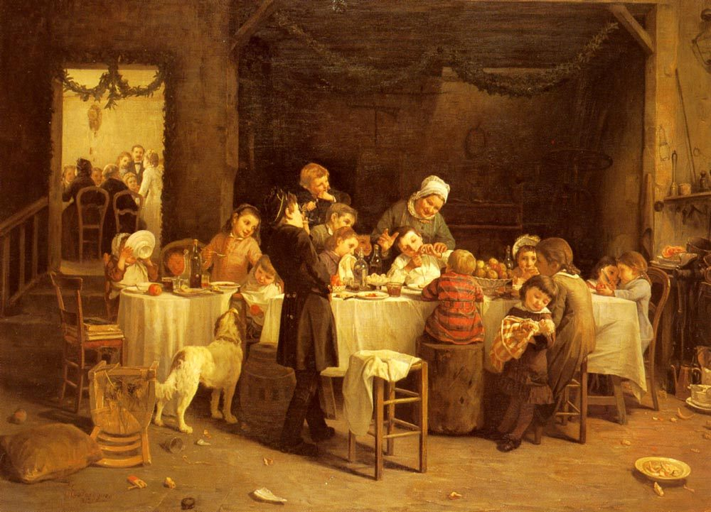 The Childrens Table :: Charles Bertrand Dentraygues - Children's portrait in art and painting ôîòî