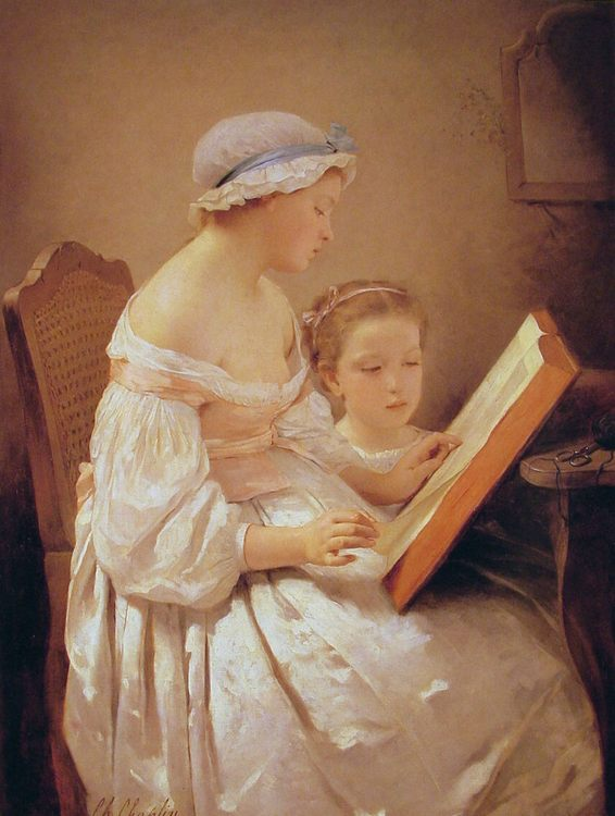 La grande soeur :: Charles Chaplin - Children's portrait in art and painting ôîòî